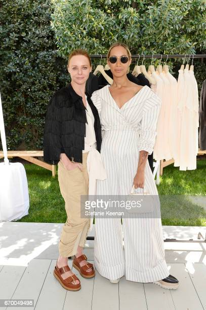 Stella McCartney and Leona Lewis attend the annual HEART Brunch featuring Stella McCartney on April 18 2017 in Los Angeles California