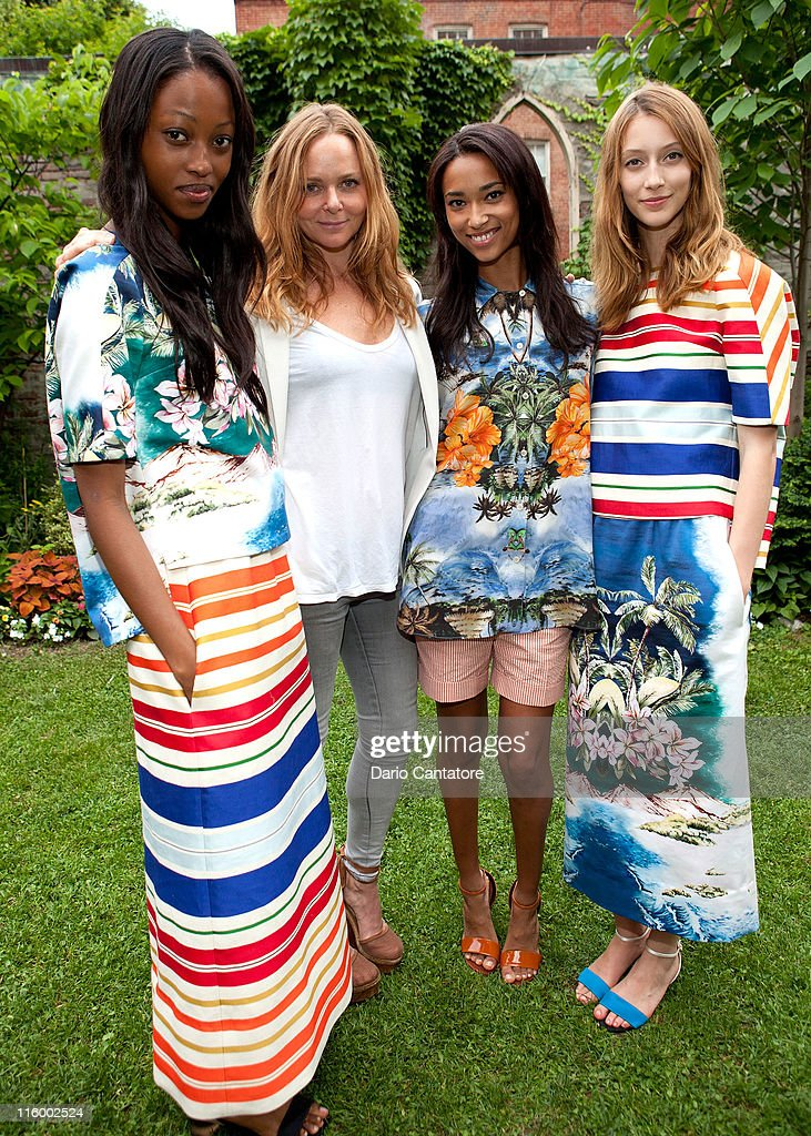 Stella McCartney and models attend the Stella McCartney Spring 2012 Presentation at a Private Location on June 13, 2011 in New York City.