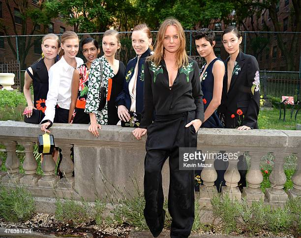 Stella McCartney and models attends the Stella McCartney Spring 2016 Resort Presentation on June 8 2015 in New York City
