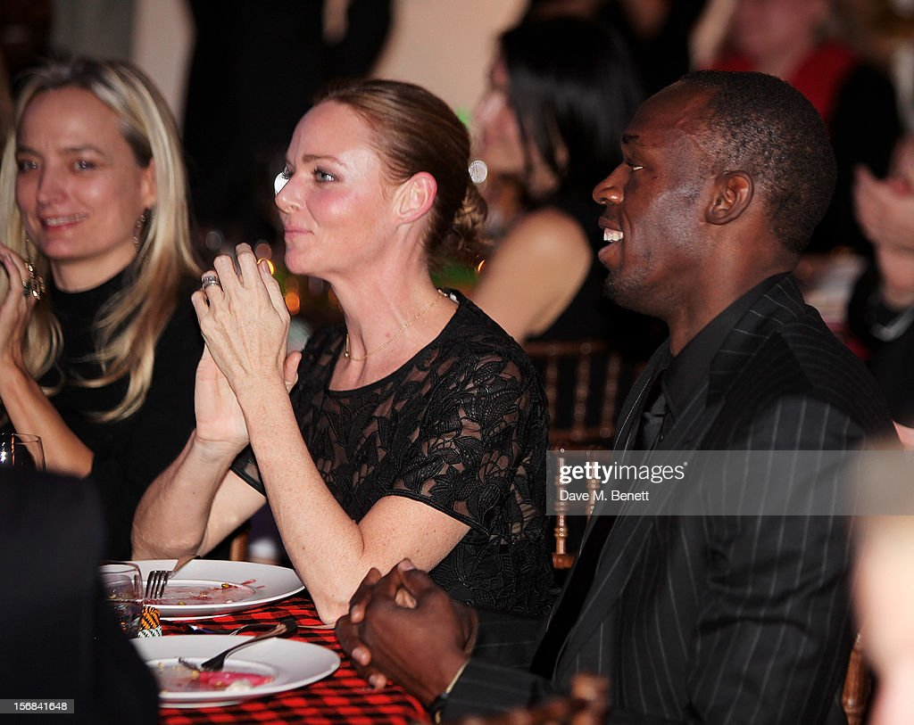 Stella McCartney and <a gi-track='captionPersonalityLinkClicked' href=/galleries/search?phrase=Usain+Bolt&family=editorial&specificpeople=604196 ng-click='$event.stopPropagation()'>Usain Bolt</a> attend the Zeitz Foundation and ZSL Gala at London Zoo on November 22, 2012 in London, England.