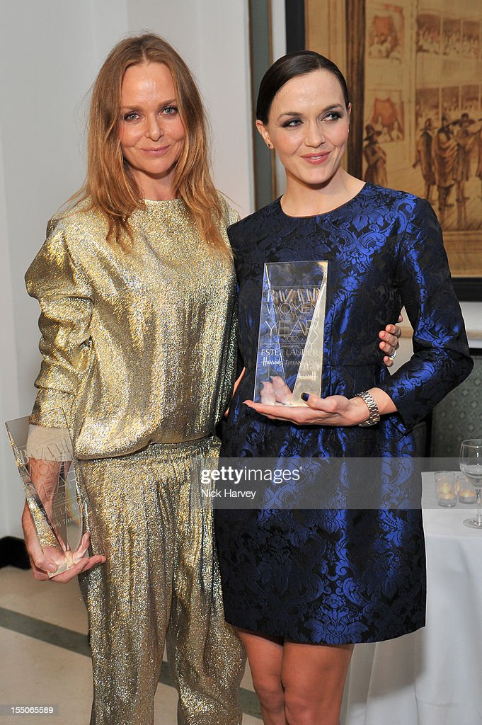 Stella McCartney and Victoria Pendleton attend the Harper's Bazaar Woman of the Year Awards at Claridge's Hotel on October 31, 2012 in London, England.