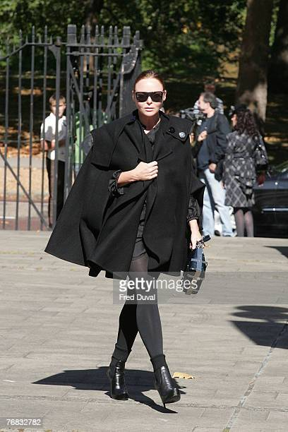 Stella McCartney arriving at the Isabella Blow Memorial Service at the Guards Chapel on September 18 2007 in London England
