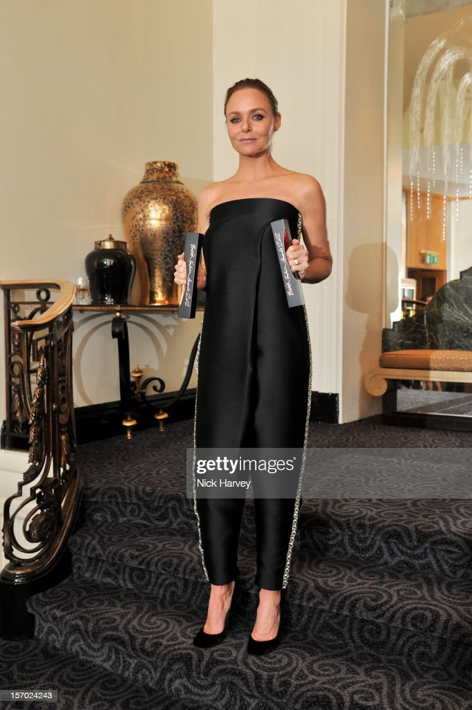 Stella McCartney attends the British Fashion Awards 2012 at The Savoy Hotel on November 27, 2012 in London, England.