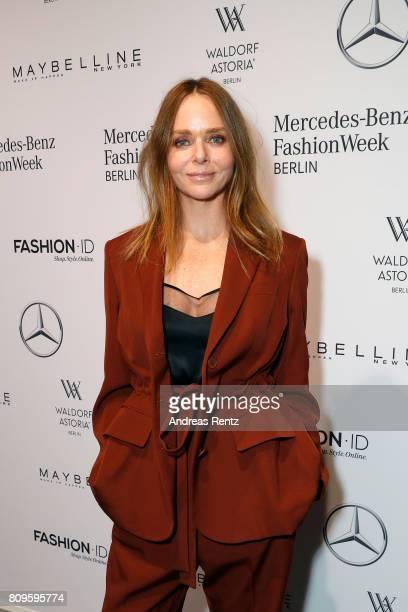 Stella McCartney attends the 'Designer for Tomorrow' show during the MercedesBenz Fashion Week Berlin Spring/Summer 2018 at Kaufhaus Jandorf on July...