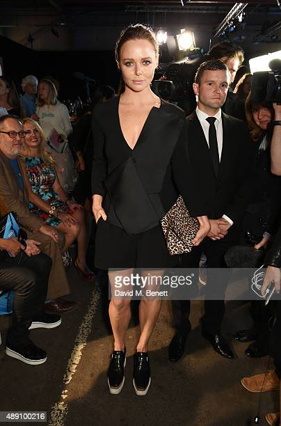 Stella McCartney attends the Hunter Original Spring/Summer 2016 Collection during London Fashion Week at Euston Station Parcel Deck on September 19...