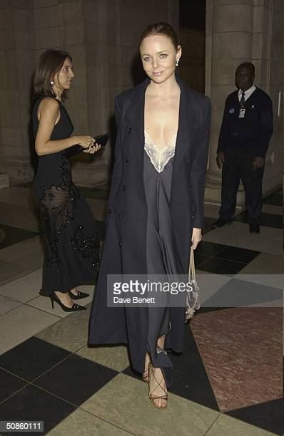 Stella McCartney attends the NSPCC Charity Gala Evening at The Victoria and Albert Museum followed by a party at The Roof Gardens in Kensington in...