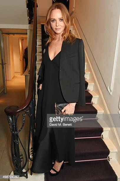 Stella McCartney attends the Stella McCartney Christmas Lights switch on at the Stella McCartney Bruton Street Store on November 25 2015 in London...