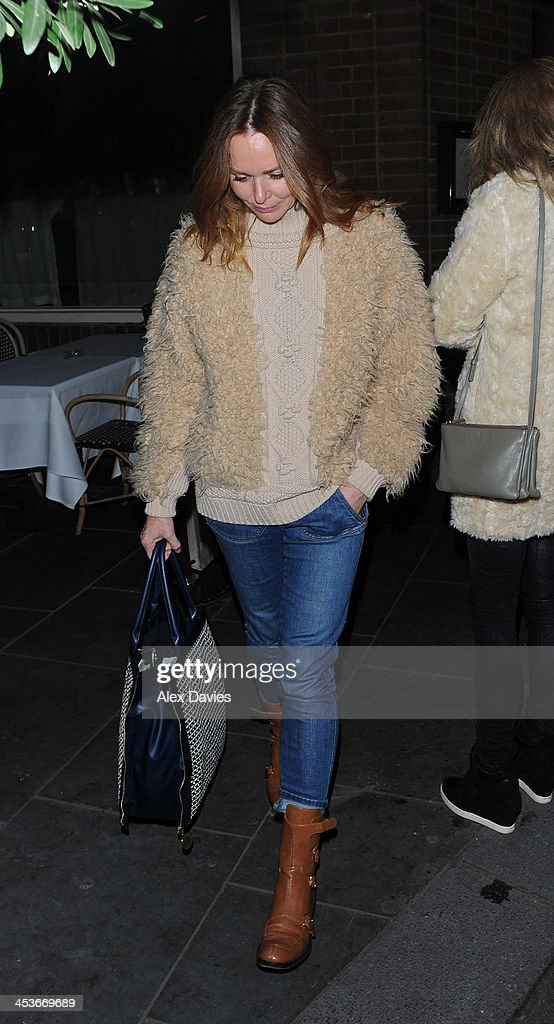 Stella McCartney leaves La Petite Maison restaurant sighting on December 4, 2013 in London, England.