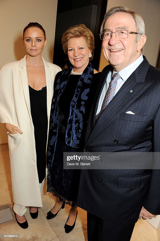 Stella McCartney, Queen Anne-Marie of Greece, King Constantine of Greece attend a private view of 'Valentino: Master Of Couture', exhibiting from November 29th, 2012 - March 3, 2013, at Somerset House on November 28, 2012 in London, England.