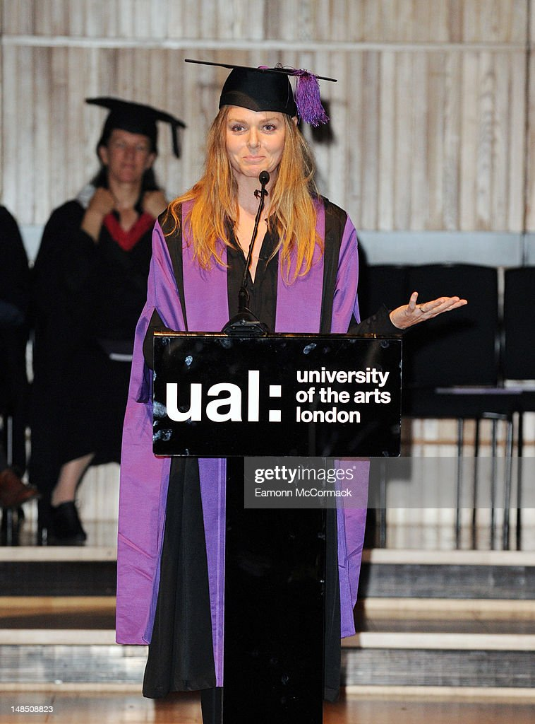 Stella McCartney receives an Honorary Degree from the University of Arts London at the Royal Festival Hall on July 18, 2012 in London, England.