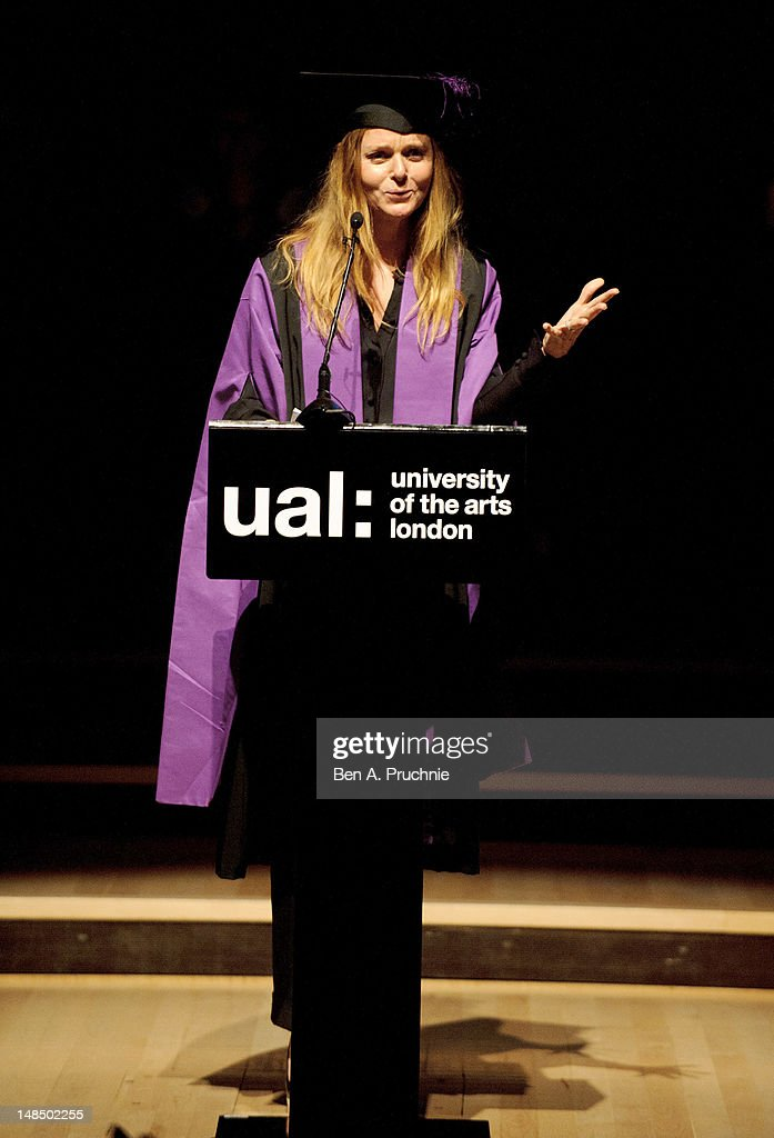 Stella McCartney receives Honorary Degree from the University of the Arts London at the Royal Festival Hall on July 18, 2012 in London, England.