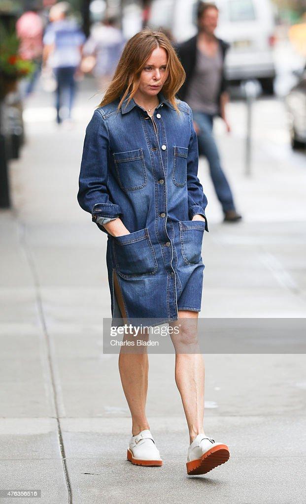 Stella McCartney seen walking in Tribeca on June 3 2015 in New York City