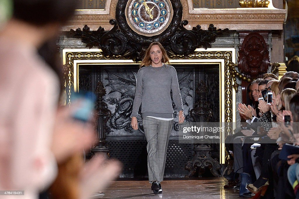 Stella McCartney walks the runway during the Stella McCartney show as part of the Paris Fashion Week Womenswear Fall/Winter 2014-2015 on March 3, 2014 in Paris, France.
