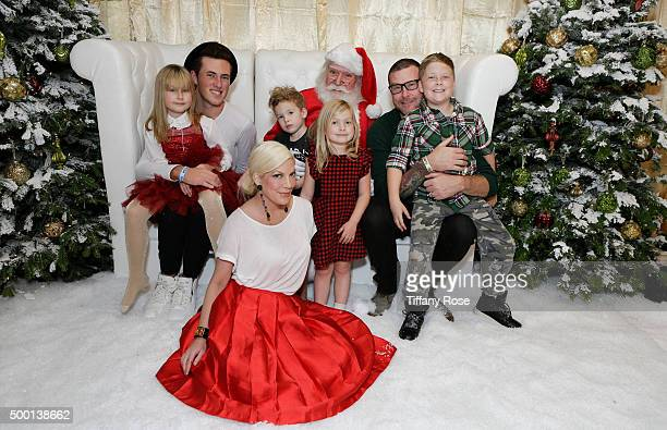 Stella McDermott Jack McDermott actress Tori Spelling Finn McDermott Hattie McDermott actor Dean McDermott and Liam McDermott attend 2015 Santa's...