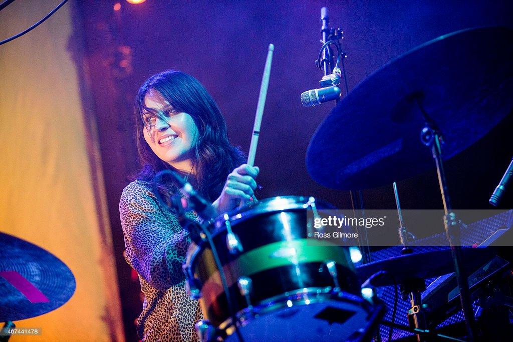 Stella Mozgawa of American band Warpaint performs on stage at O2 ABC Glasgow on March 24, 2015 in Glasgow, United Kingdom.
