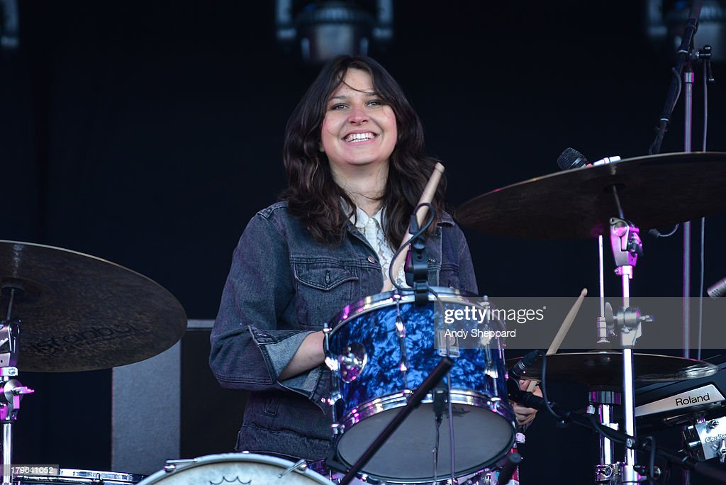 Stella Mozgawa of the band Warpaint performs on stage on Day 2 of End Of The Road Festival 2013 at Larmer Tree Gardens on August 31 2013 in Salisbury...