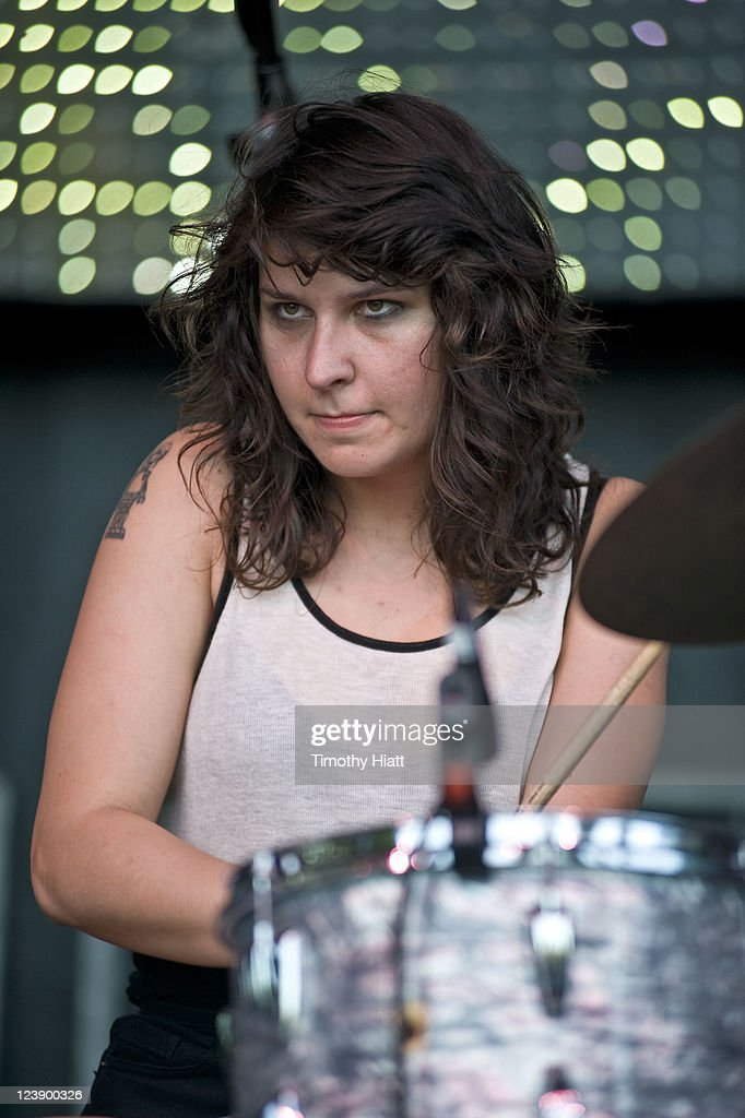 Stella Mozgawa of Warpaint performs at the 2011 Bumbershoot Festival on September 4 2011 in Seattle Washington