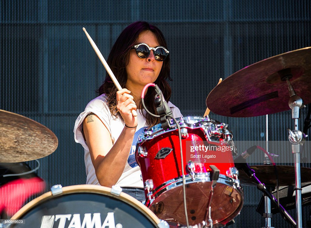 Stella Mozgawa of Warpaint performs during the St Jerome's Laneway Festival at Meadow Brook Music Festival on September 14 2013 in Rochester Michigan