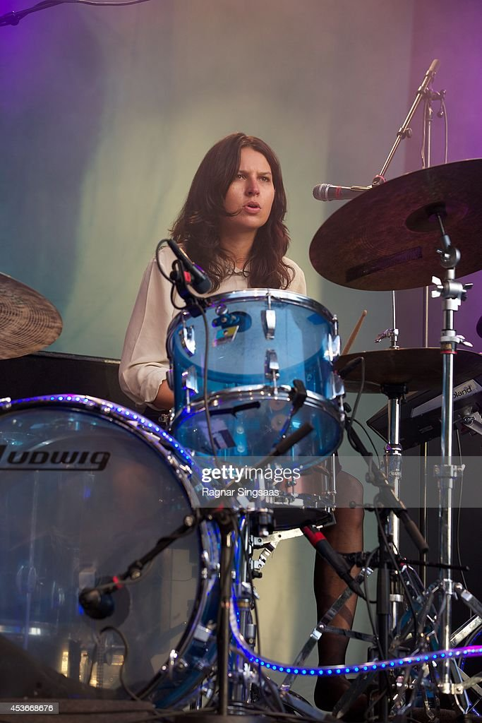 Stella Mozgawa of Warpaint performs on Day 1 of Pstereo Festival on August 15 2014 in Trondheim Norway