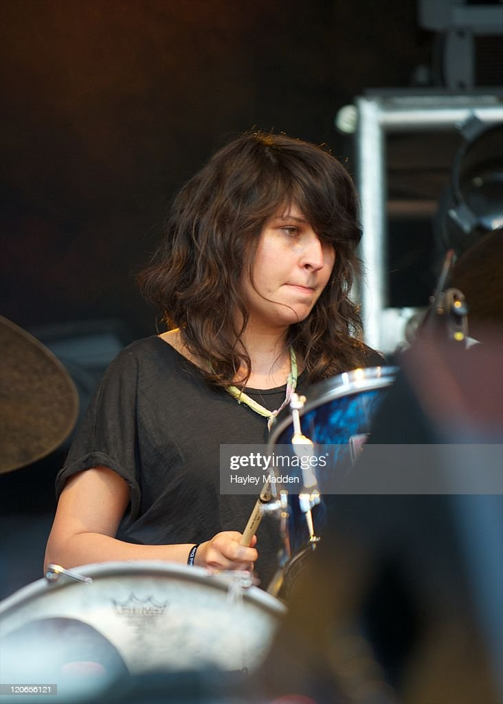 Stella Mozgawa of Warpaint performs on stage during Field Day Festival 2011 at Victoria Park on August 6 2011 in London United Kingdom