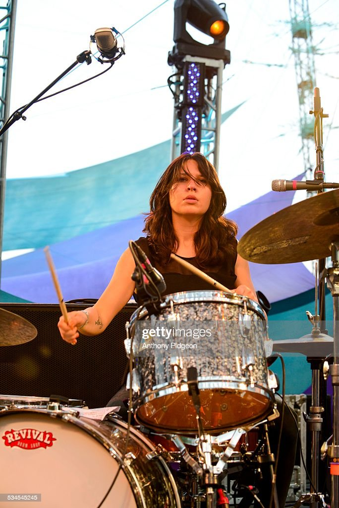 Stella Mozgawa of Warpaint performs onstage at Pickathon Festival in Happy Valley Oregon USA on 3rd August 2014