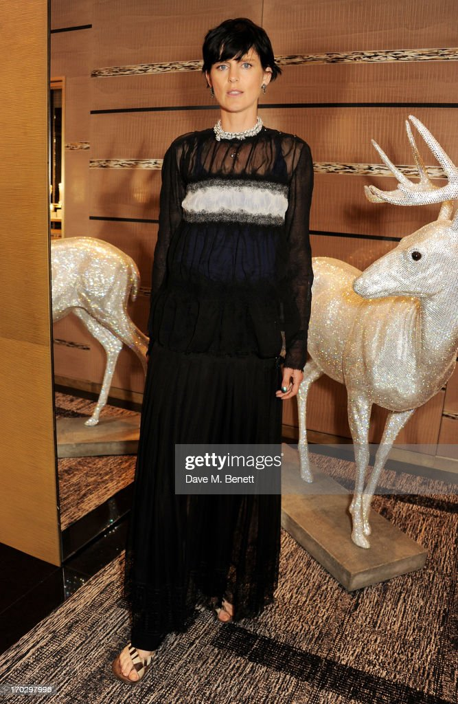 Stella Tennant attends a private view of the new CHANEL flagship boutique on New Bond Street on June 10, 2013 in London, England.