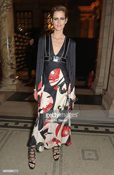 Stella Tennant attends the Alexander McQueen Savage Beauty Fashion Gala at the VA presented by American Express and Kering on March 12 2015 in London...