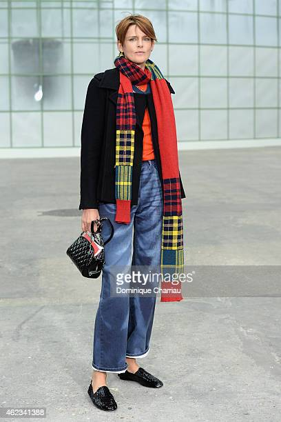 Stella Tennant attends the Chanel show as part of Paris Fashion Week HauteCouture Spring/Summer 2015 on January 27 2015 in Paris France