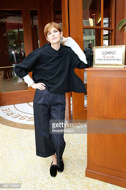 Stella Tennant attends the Chanel show as part of the Paris Fashion Week Womenswear Fall/Winter 2015/2016 on March 10 2015 in Paris France