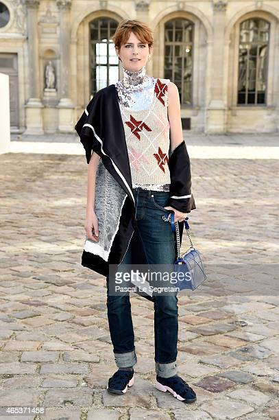 Stella Tennant attends the Christian Dior show as part of the Paris Fashion Week Womenswear Fall/Winter 2015/2016 on March 6 2015 in Paris France