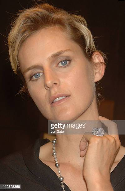 Stella Tennant during CHAUMET Ginza Store Grand Renewal Opening Ceremony with Stella Tennant at CHAUMET Ginza Store in Tokyo Japan