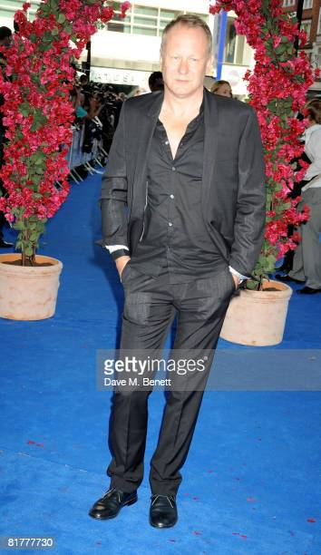 Stellan Skarsgard arrives at the UK film premiere of 'Mamma Mia' the Movie at the Odeon Leicester Square on June 30 2008 in London England