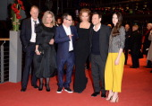 Stellan Skarsgard Bente Trier Lars von Trier Uma Thurman Christian Slater and Stacy Martin attend the 'Nymphomaniac Volume I ' premiere during 64th...