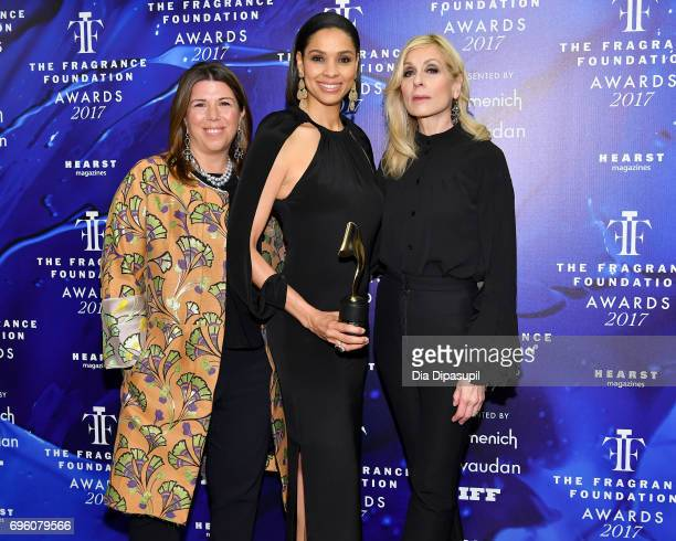 Stellene Volandes Stella Irby and Judith Light poses backstage at the 2017 Fragrance Foundation Awards Presented By Hearst Magazines at Alice Tully...