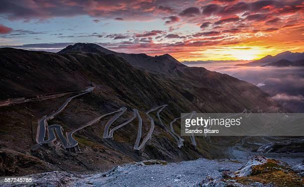 Stelvio Pass at Sunrise