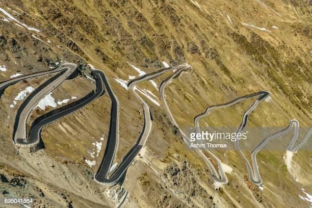 Stelvio Pass Road, South Tyrol, Italy, Europe