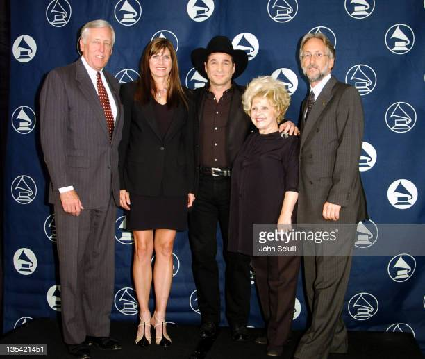 Steny Hoyer Mary Bono Clint Black Brenda Lee and Neil Portnow president of the Recording Academy