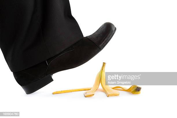 step on banana peel