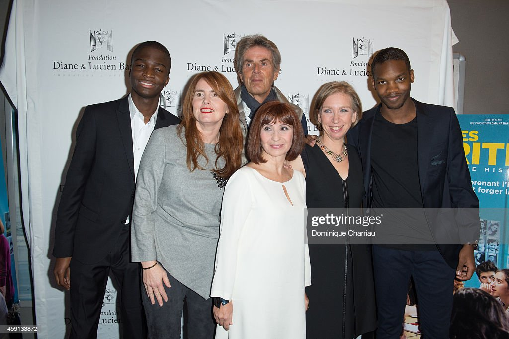 Stepahne Bak, Director Marie-Castille, Mention-Schaar, Dominique Deseigne, Ariane Ascaride, Anne Angles and Ahmed Drame attend 'Les Heritiers' Premiere Hosted by Fondation Diane & Lucien Barriere at Publicis Champs Elysees on November 17, 2014 in Paris, France.