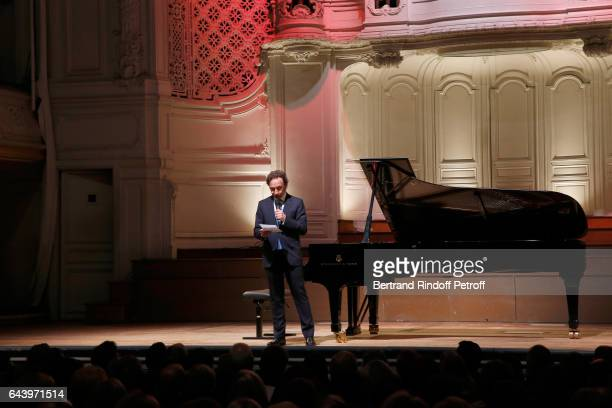Stepane Bern presents the celebration of the 10th Anniversary of the 'Fondation Prince Albert II De Monaco' at Salle Gaveau on February 22 2017 in...