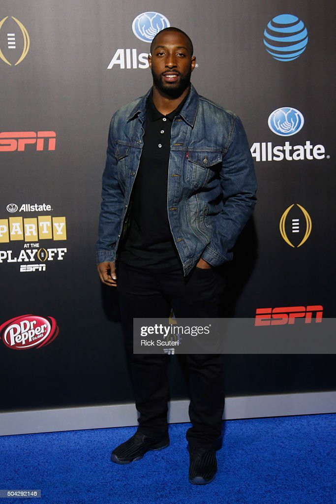 Stepfan Taylor attends the Allstate party at the Playoff Blue Carpet on January 9, 2016 in Phoenix, Arizona.