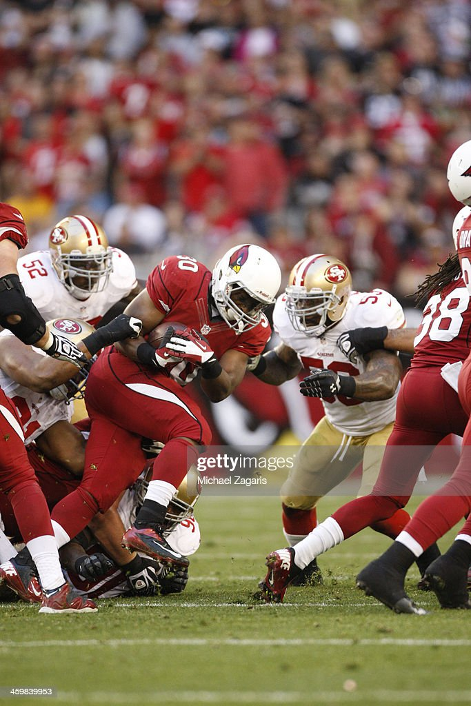 <a gi-track='captionPersonalityLinkClicked' href=/galleries/search?phrase=Stepfan+Taylor&family=editorial&specificpeople=6523004 ng-click='$event.stopPropagation()'>Stepfan Taylor</a> #27 of the Arizona Cardinals rushes off tackle during the game against the San Francisco 49ers at the University of Phoenix Stadium on December 29, 2013 in Glendale, Arizona. The 49ers defeated the Cardinals 23-20.