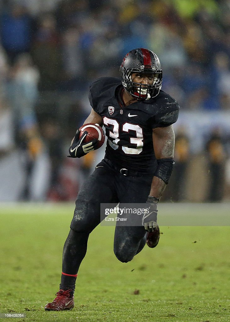 <a gi-track='captionPersonalityLinkClicked' href=/galleries/search?phrase=Stepfan+Taylor&family=editorial&specificpeople=6523004 ng-click='$event.stopPropagation()'>Stepfan Taylor</a> #33 of the Stanford Cardinal in action against the UCLA Bruins during the Pac-12 Championship game at Stanford Stadium on November 30, 2012 in Stanford, California.