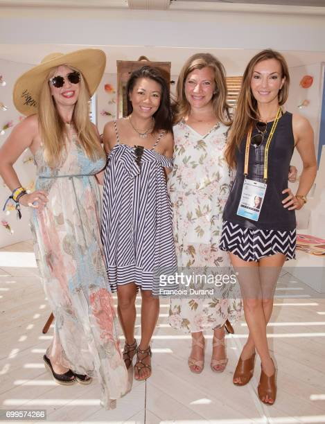 Steph Bagley Swan Sit Nola Beth and Cooper Harris attend the ' #SheInspiresMe Twitter celebrates female voices visionaries ' Event at Cannes Lions on...