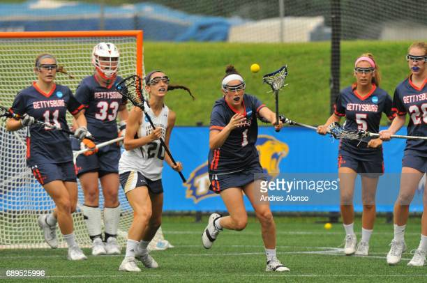 Steph Colson of Gettysburg College gets a missed shotduring the Division III Women's Lacrosse Championship held at Kerr Stadium on May 28 2017 in...