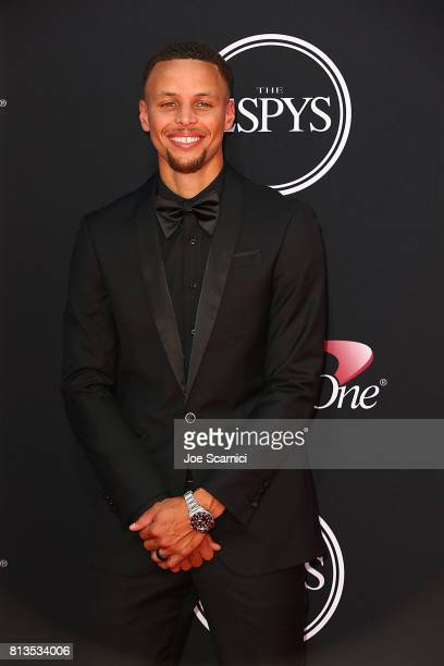 Steph Curry arrives at the 2017 ESPYS at Microsoft Theater on July 12 2017 in Los Angeles California