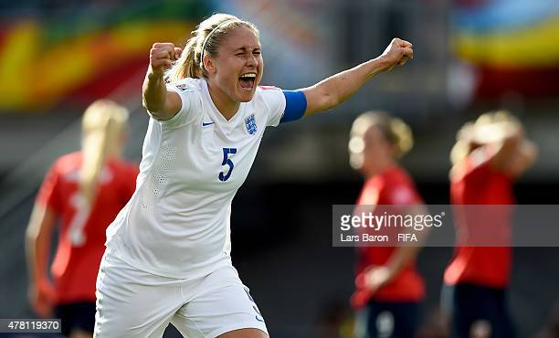 Steph Houghton of England celebrates after scoring her teams first goal during the FIFA Women's World Cup 2015 Round of 16 match between Norway and...