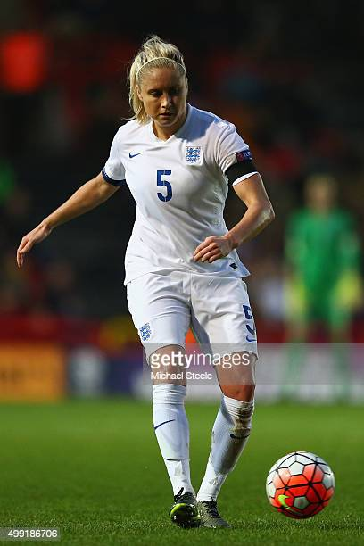Steph Houghton of England during the UEFA Women's Euro 2017 Qualifier match between England and Bosnia and Herzegovina at Ashton Gate on November 29...