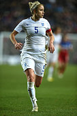 Steph Houghton of England in action during the Women's Friendly International match between England and USA at Stadium mk on February 13 2015 in...