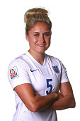 Steph Houghton of England poses during a FIFA Women's World Cup portrait session on June 6 2015 in Moncton Canada